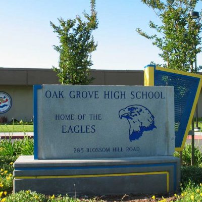 Oak Grove High School billboard. Photograph taken by Bahn Mi of the Schoolwatch Programme